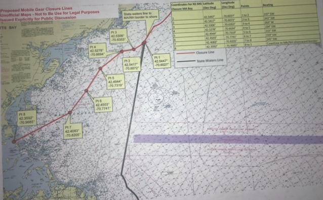cashes ledge map massachusetts lobstermens association